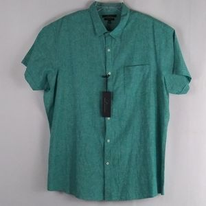 Marc Anthony solid green button shirt men size XXL